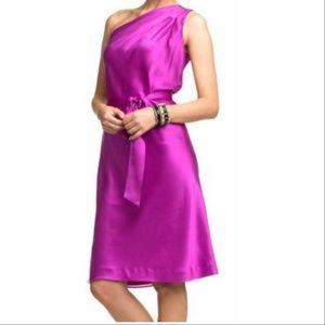 Banana Republic One Shoulder Silk Dress Sz 6